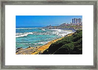 Boomers Beach La Jolla Framed Print
