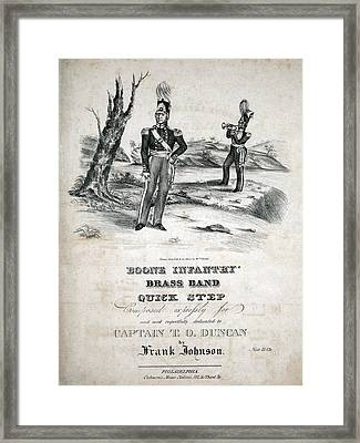 Boone Infantry Brass Band Quick Step Framed Print by Everett