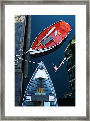 Boothbay Boats 1 Framed Print by Ron St Jean