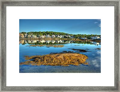 Boothbay Harbor Framed Print by Ron St Jean