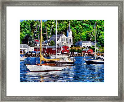 Boothbay Harbor Framed Print by Stephen Younts