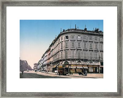 Bordeaux - France - Rue Chapeau Rouge From The Palace Richelieu Framed Print by International  Images