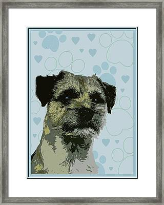 Border Terrier Framed Print by One Rude Dawg Orcutt