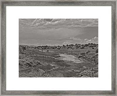 Borderland Tanks Framed Print by Joshua House