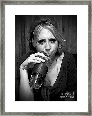 Framed Print featuring the photograph Boredom At Its Best by Leslie Hunziker