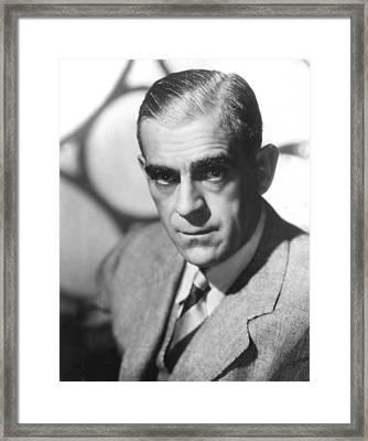 Boris Karloff, Ca 1940s Framed Print