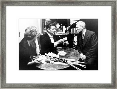 Boris Pasternak With Felicia Framed Print by Everett
