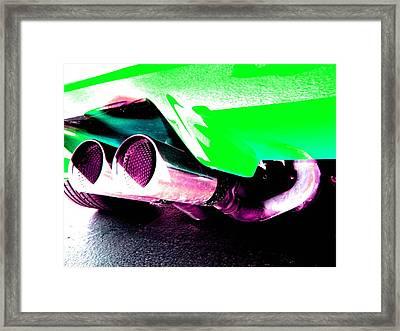 Framed Print featuring the photograph Borla Groove by Carolina Liechtenstein
