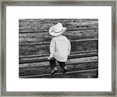 Born To Be A Cowboy Framed Print