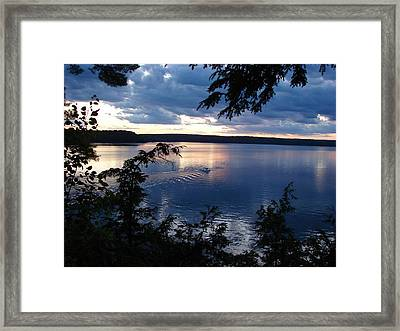 Boshkung Lake Sunset Framed Print