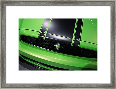 Framed Print featuring the photograph Boss 302 Ford Mustang by Gordon Dean II