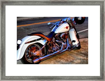 Boss Hog . Harley-davidson .  7d12757 Framed Print by Wingsdomain Art and Photography