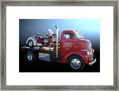 Boss Hoss Truck Framed Print by Bill Dutting