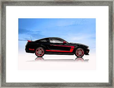 Boss Mustang Framed Print by Douglas Pittman
