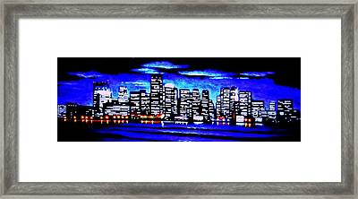Boston By Black Light Framed Print by Thomas Kolendra