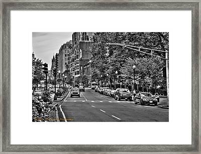 Boston City Scape Framed Print by Dan Crosby