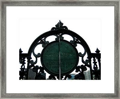 Boston Common Framed Print by Sheryl Burns