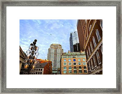 Boston Downtown Framed Print
