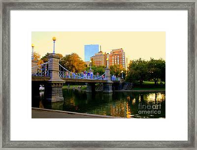 Boston From The  Bridge Framed Print