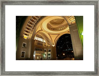 Boston Harbor Hotel Framed Print by Erica McLellan