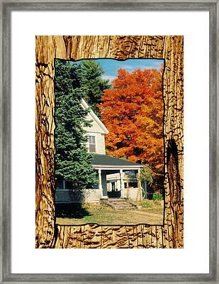 Boston Home Fall 1982 Framed Print by Noah Brooks