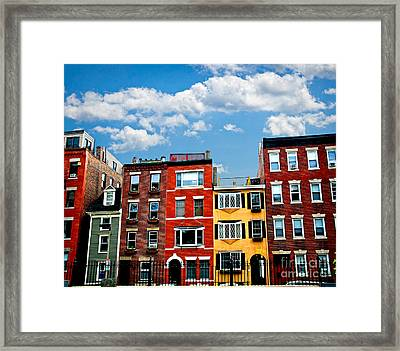 Boston Houses Framed Print