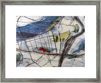 Boston Map  Framed Print by Romina Diaz-Brarda