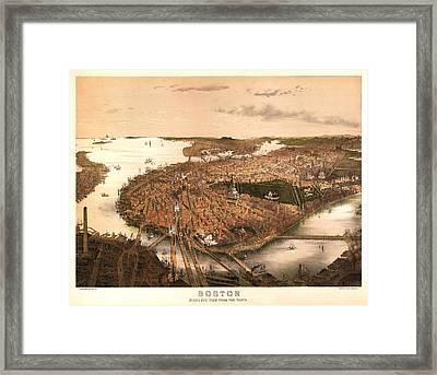 Boston Massachusetts 1877 Framed Print by Donna Leach