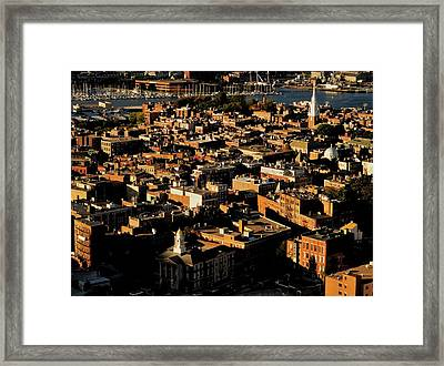 Boston North End Framed Print