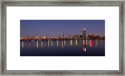 Boston Panoramic View Framed Print by Juergen Roth