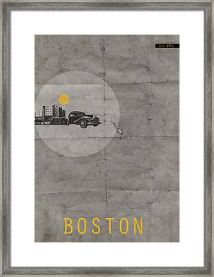 Boston Poster Framed Print