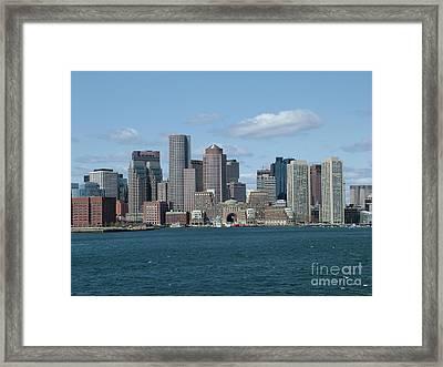 Boston Framed Print by Renata Zau