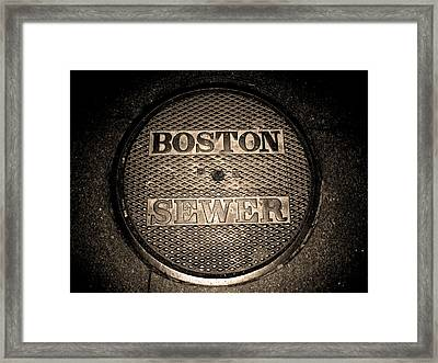 Boston Sewer Framed Print