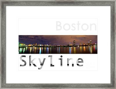 Boston Skyline Framed Print by Syed Aqueel
