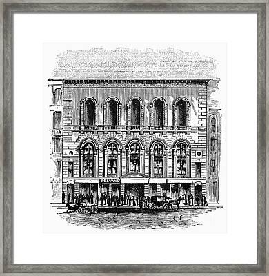 Boston: Tremont Temple Framed Print by Granger