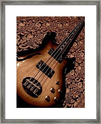 Botanical Bass Framed Print by Chris Berry