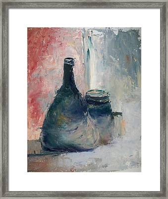 Bottle And Jar Framed Print