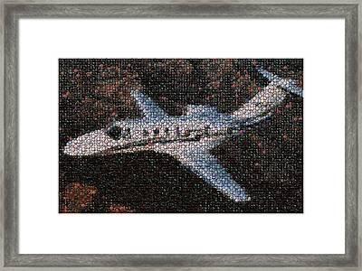 Bottle Cap Cessna Citation Mosaic Framed Print by Paul Van Scott