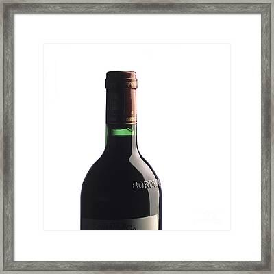 Bottle Of French Wine Framed Print by Bernard Jaubert