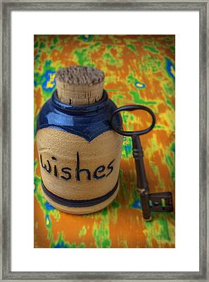 Bottle Of Wishes Framed Print by Garry Gay
