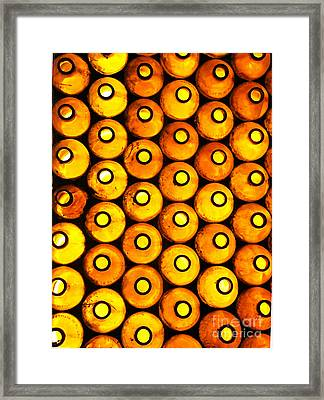 Framed Print featuring the photograph Bottle Pattern by Nareeta Martin