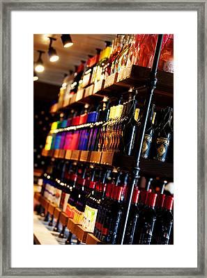 Bottle Rainbow Framed Print by Mary Solberg