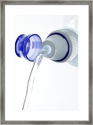 Bottled Mineral Water Framed Print by Steve Horrell