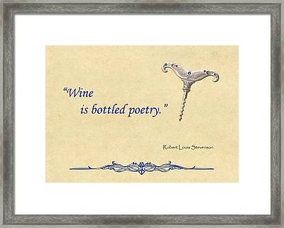 Bottled Poetry Framed Print by Elaine Plesser