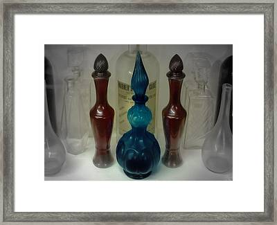 Bottled Up Framed Print by DigiArt Diaries by Vicky B Fuller