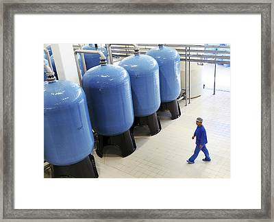 Bottled Water Production Framed Print by Ria Novosti