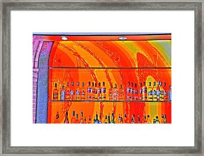 Bottles Framed Print by Barry R Jones Jr