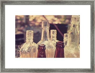 Bottles Behind The Old Saloon Framed Print