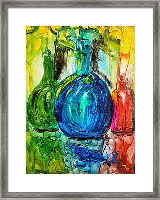 Bottles Framed Print