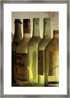 Bottles Still Framed Print by Kelly Rader